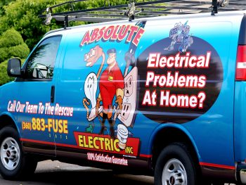 Absolute Electric Inc., picture of an Absolute Electrical Van