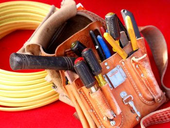 Electrical tools. Photo of electrical tools used by an electrician at Absolute Electric Inc.