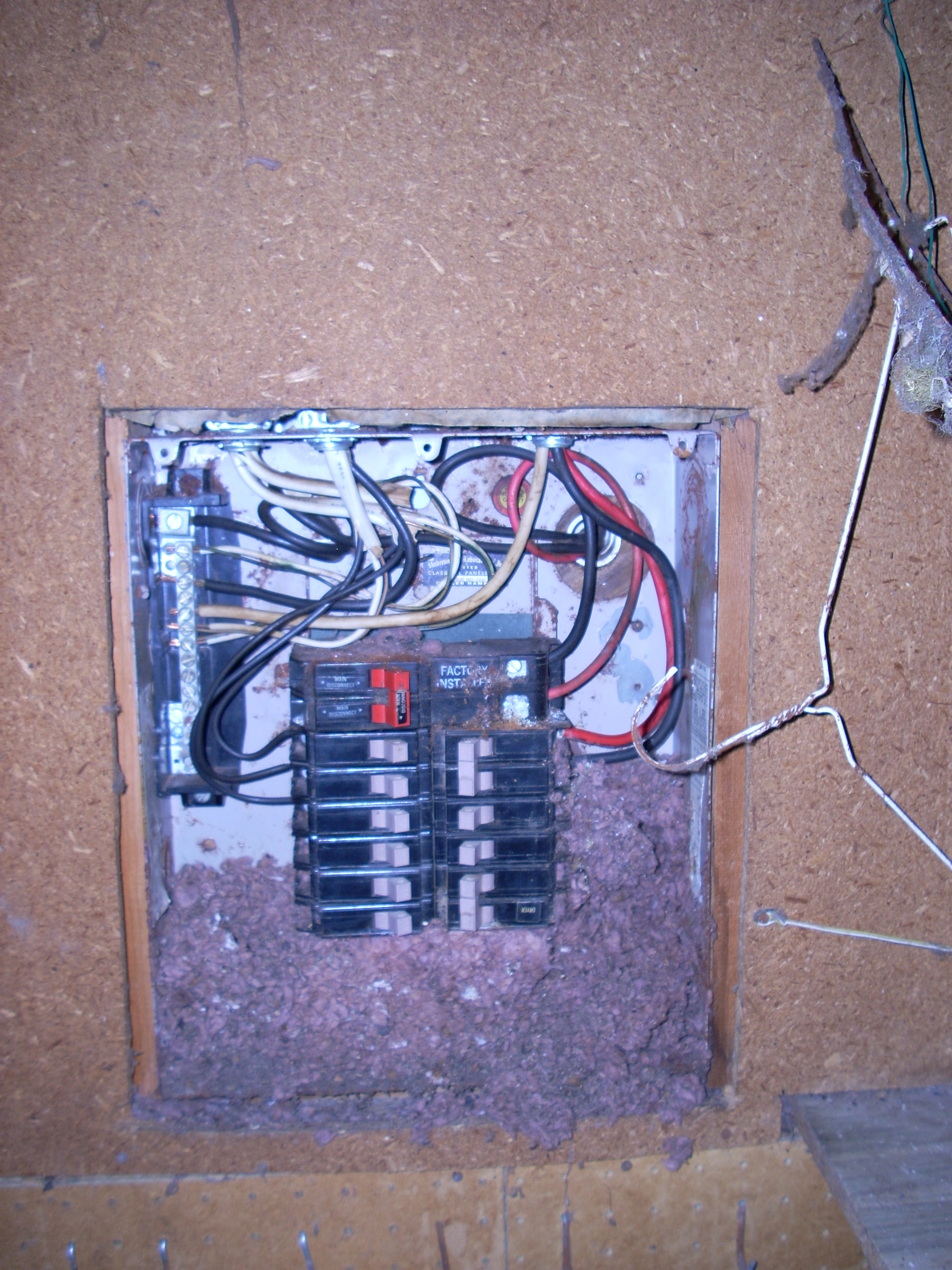 Electrical Service Panels Vancouver Washington Electrician Wiring Panel Diagram A Photo Of An Located In Shop With Rats Nest Inside
